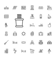 33 hotel icons vector