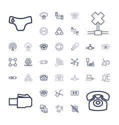 37 connect icons vector image
