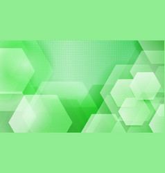 Abstract background of hexagons vector