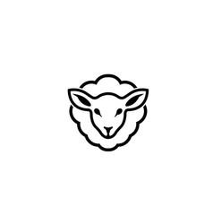 abstract cartoon sheep logo vector image