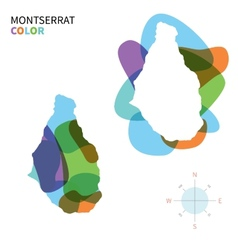 Abstract color map of Montserrat vector
