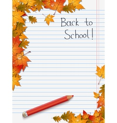 Back to school education background vector