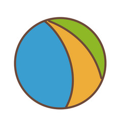 Beach ball colors funny plastic icon vector