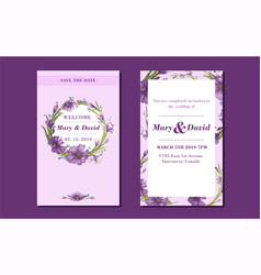 beautiful drawing wreath invitation card vector image