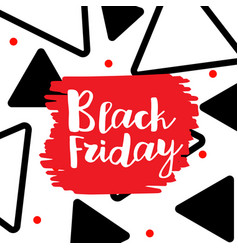 black friday lettering hand made calligraphy vector image