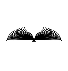Blank book isolated vector image