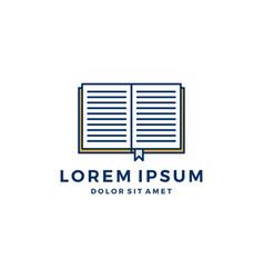 book logo icon vector image