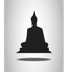 Buddha Silhouettes on the white background vector image