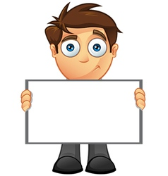 Business Man Blank Sign 8 vector image