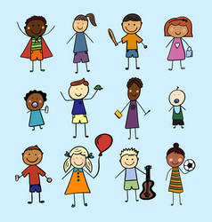 children from all over the world vector image