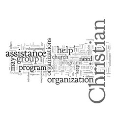 Christian organizations and programs what is vector