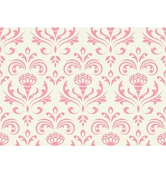 Classic floral seamless ornate background vector image