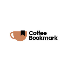 coffee bookmark logo icon vector image