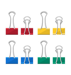 colored binder clips clerical clothespin vector image