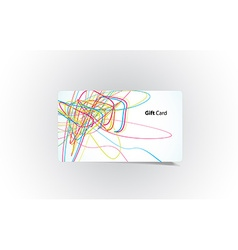 colored business card vector image