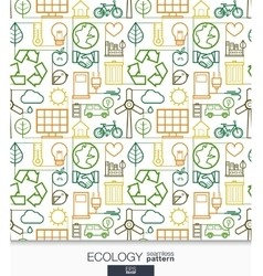 Ecology wallpaper Green energy connected seamless vector
