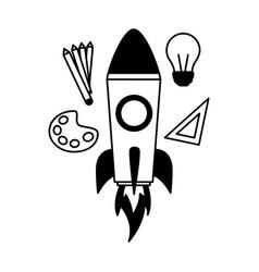 education supplies school vector image
