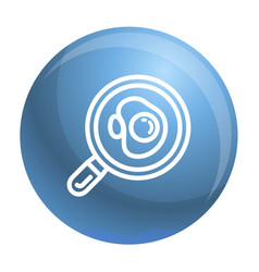 egg on pan icon outline style vector image