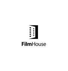 film house logo design concept vector image