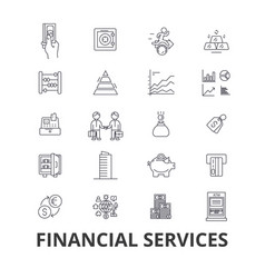 financial services operations finance planning vector image