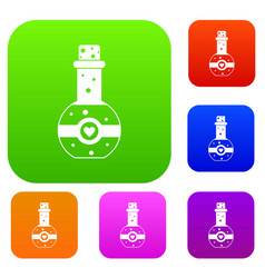 flask of love elixir set collection vector image