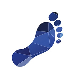 footprint icon Abstract Triangle vector image