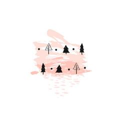 hand drawn abstract christmas decoration vector image