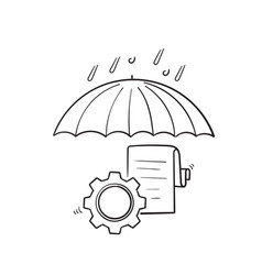 hand drawn doodle risk management icon vector image