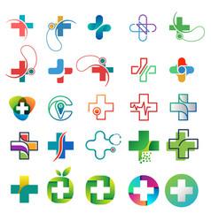 Healthcare logo collection design concept vector