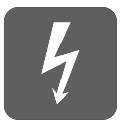 High Voltage Flat Squared Icon vector
