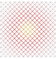 hot iron wire mesh and shadow on white vector image