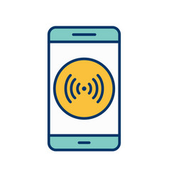 Hotspot mobile application icon vector