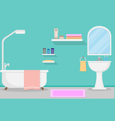 interior modern bathroom design and vector image