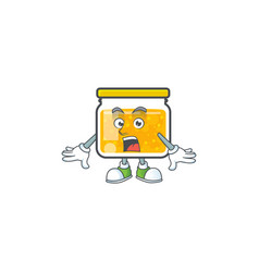 Jam with mascot surprised on white background vector