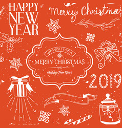 light merry christmas greeting template vector image