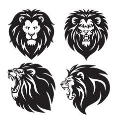Lion logo set collection premium design vector