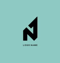 logo design n 1 abstract vector image