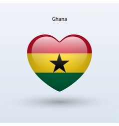 Love Ghana symbol Heart flag icon vector image