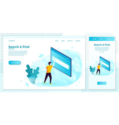man in searching process set vector image