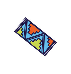 Mexican culture rug fill style icon vector