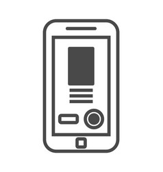 mobile advertisement isolated icon vector image
