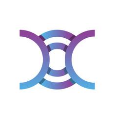 monogram logo letter doc vector image