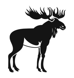Moose icon simple style vector