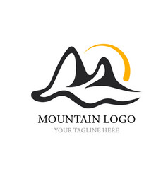 mountain logo template logo for your design vector image