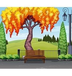 Nature scene with tree in park vector