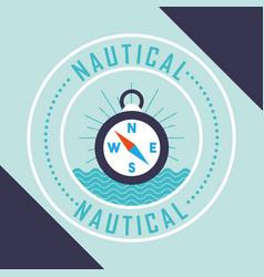 Nautical maritime design vector