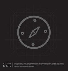 navigation compass icon vector image