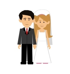 newlywed couple icon image vector image