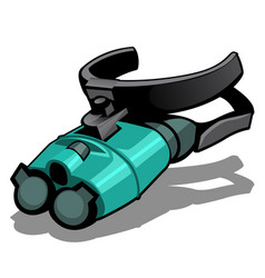night vision goggles isolated on a white vector image