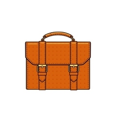 orange color briefcase icon vector image